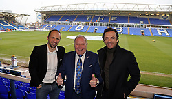Former Peterborough United players Matthew Etherington and Simon Davies with their former manager Barry Fry - Mandatory by-line: Joe Dent/JMP - 20/01/2018 - FOOTBALL - ABAX Stadium - Peterborough, England - Peterborough United v Oldham Athletic - Sky Bet League One