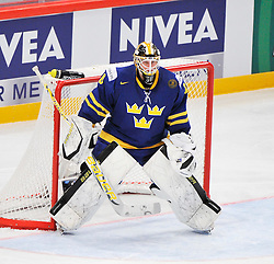 09.05.2012, Ericsson Globe, Stockholm, SWE, IIHF, Eishockey WM, Deuschland (GER) vs Schweden (SWE), im Bild 30 Goalkeeper Viktor Fasth (AIK) // during the IIHF Icehockey World Championship Game between Germany (GER) and Sweden (SWE)at the Ericsson Globe, Stockholm, Sweden on 2012/05/09. EXPA Pictures © 2012, PhotoCredit: EXPA/ PicAgency Skycam/ Simone Syversson..***** ATTENTION - OUT OF SWE *****
