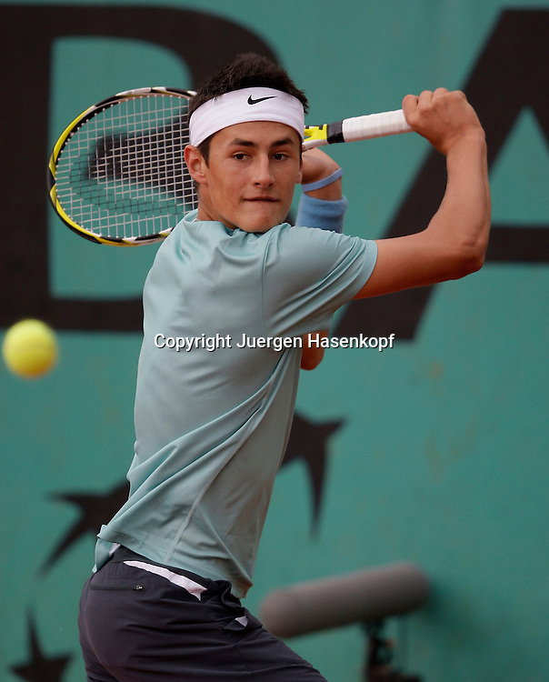 French Open 2009, Roland Garros, Paris, Frankreich,Sport, Tennis, ITF Grand Slam Tournament,<br /> <br /> Bernard Tomic (AUS)<br /> <br /> Foto: Juergen Hasenkopf
