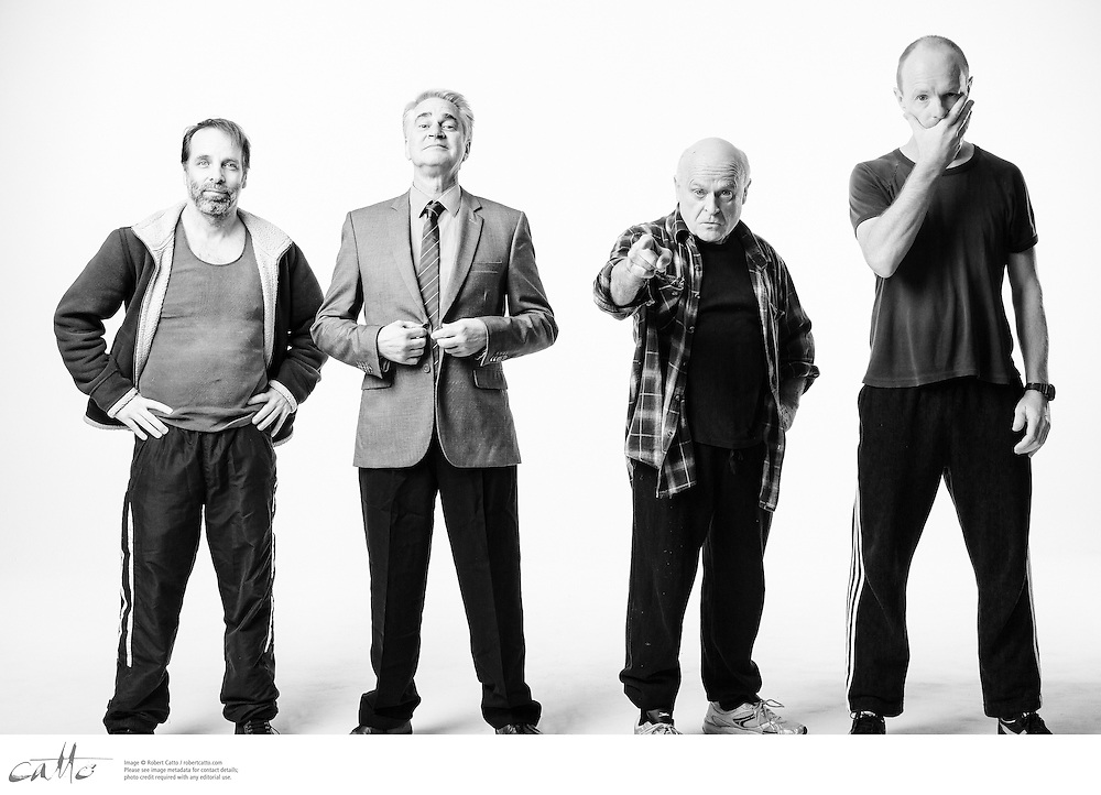 The cast members of Apocalypse Theatre's production of The Dapto Chaser, by Mary Rachel Brown, photographed on Thursday, 30 April, 2015. The show takes place at Griffin Theatre from 1 - 15 July, 2015.<br /> <br /> For the Sinclair family, the cut-throat world of greyhound racing is a religion. And their beloved dog Boy Named Sue is more than a greyhound; he&rsquo;s their heart and soul on four legs. With the crucial Winnebago Classic on the horizon, Cess Sinclair has one shot at reversing his family&rsquo;s fortunes for good. Against all the odds, he&rsquo;s betting on a miracle.<br /> <br /> The Dapto Chaser is warts-and-all Australian comedy that gets its hands dirty with the adrenaline, sweat and guts of the dog racing sub-culture. The Sinclairs are a family trapped in the pressure cooker of gambling addiction and when things don&rsquo;t go to plan, they are forced to gamble the most important commodity of all &ndash; their relationship to each other.<br /> <br /> Playwright Mary Rachel Brown wrote The Dapto Chaser perched in the bleachers track-side, while director Glynn Nicholas will be going on an all-schnitzel diet to get it over the line.