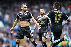 Goal, Daniel Drinkwater of Leicester City scores the equaliser, Chelsea 1-1 Leicester City - Mandatory byline: Jason Brown/JMP - 15/05/2016 - FOOTBALL - London, Stamford Bridge - Chelsea v Leicester City - Barclays Premier League
