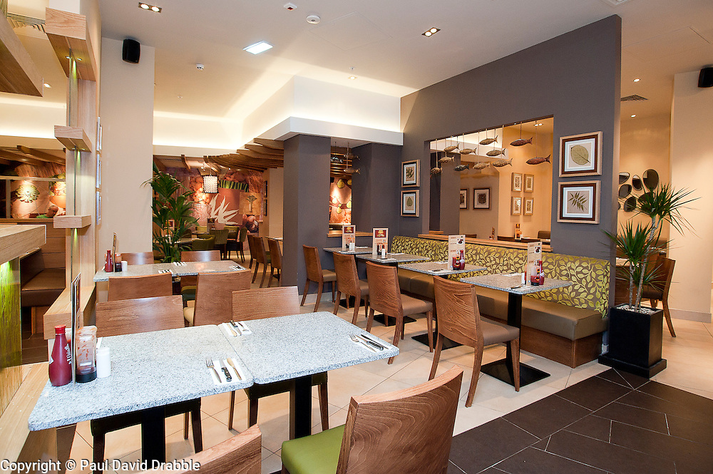 Official opening of Sheffield,s new Harvester Salad & Grill at Meadowhall .10 November 2011. Image © Paul David Drabble