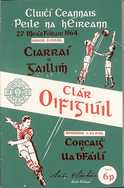 1964 Official GAA programme brochure. Kerry v Galway.