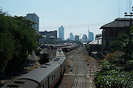 Railway and skyline of Bangkok, Thailand. PHOTO TIAGO MIRANDA