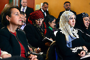 © Licensed to London News Pictures. 24/05/2013. London, UK Members of the audience. Nick Clegg, Liberal Democrat MP and Deputy Prime Minister, attends a multi faith gathering with the local multi faith community at the Hugh Cubitt Peabody Centre in Islington London today 24th May 2013. After meeting privately with political and faith leaders he and they made speeches in response to the attack and death of Drummer Lee Rigby in Woolwich, calling for the community to unite against the attack. Photo credit : Stephen Simpson/LNP