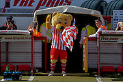 Stevenage mascot  during the Sky Bet League 2 match between Stevenage and York City at the Lamex Stadium, Stevenage, England on 12 September 2015. Photo by Simon Davies.