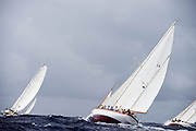 Saphaedra sailing in the Antigua Classic Yacht Regatta, Butterfly Race.