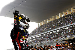30.10.2011, Jaypee-Circuit, Noida, IND, F1, Grosser Preis von Indien, Noida, im Bild Sebastian Vettel (GER), Red Bull Racing // during the Formula One Championships 2011 Large price of India held at the Jaypee-Circui 2011-10-30. EXPA Pictures © 2011, PhotoCredit: EXPA/ nph/ Dieter Mathis +++++ ATTENTION - OUT OF GERMANY/(GER), CROATIA/(CRO), BELGIAN/(BEL) +++++