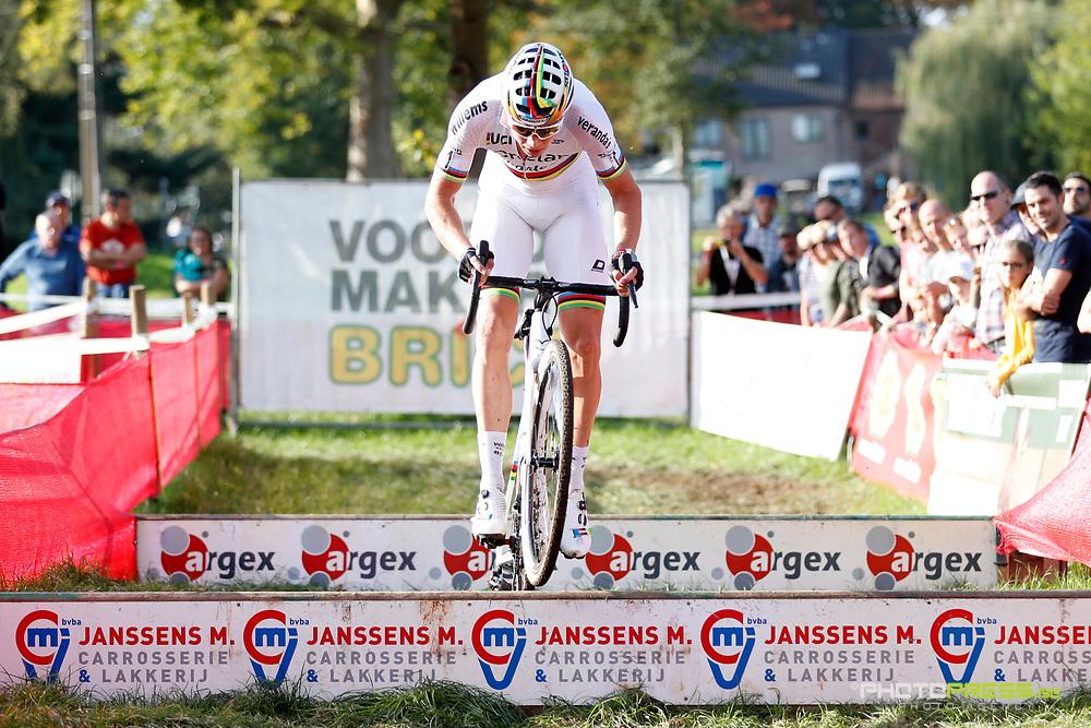 BELGIUM / KRUIBEKE / CYCLING / CYCLOCROSS / VELDRIJDEN / VELDRIT / BRICO CROSS #3 / POLDERSCROSS / WOUT VAN AERT (BEL - CRELAN - CHARLES) /