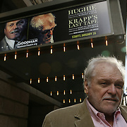 Award winning movie and stage actor Brian Dennehy, stared in an emotionally and physically taxing double bill in Chicago at the Goodman Theater:  Eugene O'Neill's &quot;Hughie&quot; and &quot;Krapp's Last Tape,&quot; by Samuel Beckett. The actor, who lives in Connecticut, has long-standing ties to the Goodman, and to the theater's artistic director, Robert Falls.<br /> Photography by Jose More