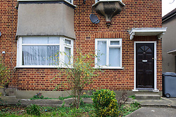 © Licensed to London News Pictures. 10/01/2014 Harrow, UK. A general view of  a ground floor flat on Woodgrange Close, Harrow where the bodies of  a 33-year-old woman, a five-year-old boy and  a seven month old boy have been found. The deaths of the two children are being treated as murder the woman's death is not being treated as suspicious at this stage. Photo credit : Simon Jacobs/LNP