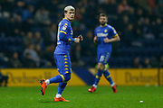 Leeds United midfielder Ezgjan Alioski (10)  during the EFL Sky Bet Championship match between Preston North End and Leeds United at Deepdale, Preston, England on 10 April 2018. Picture by Simon Davies.