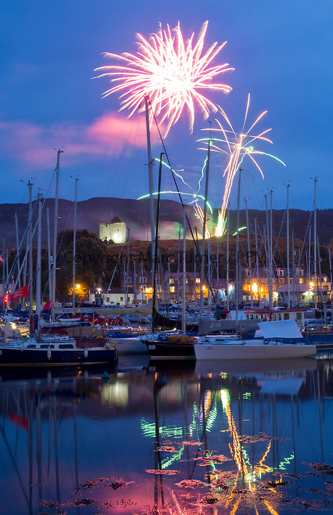Silvers Marine Scottish Series 2017<br /> Tarbert Loch Fyne - Sailing Day 3<br /> <br /> Fireworks Tarbert Harbour