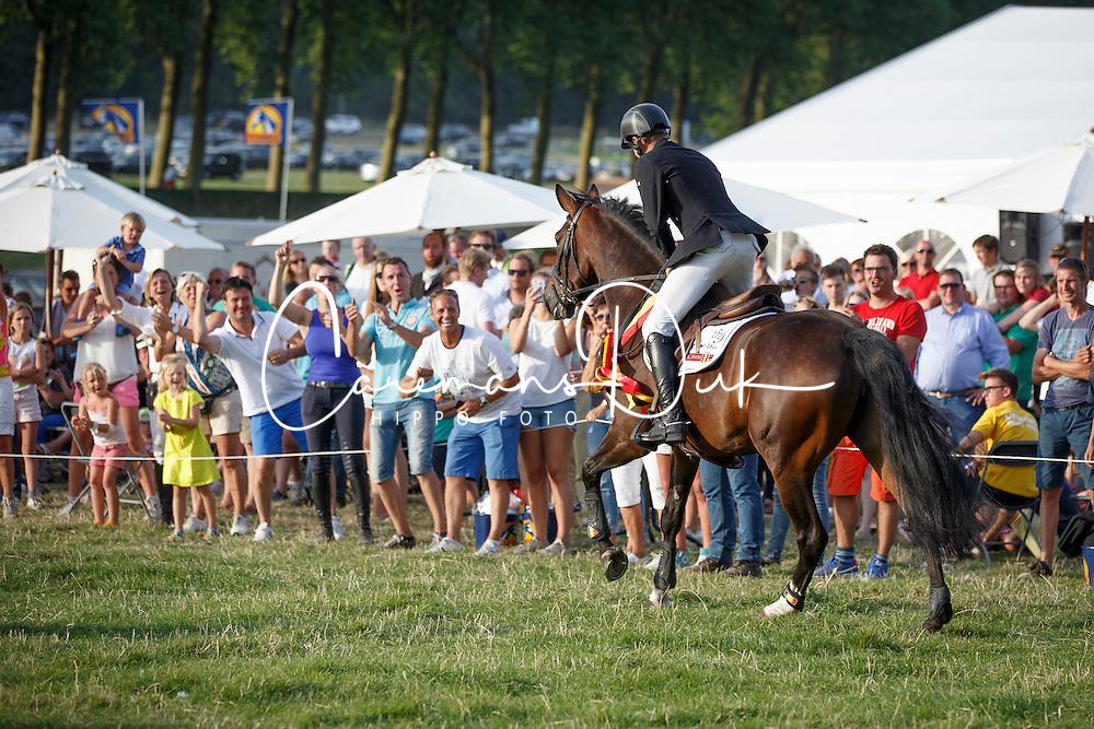 De Cleene Wouter, (BEL), AC's Donna Carrera<br /> BK 6 Years old Horses<br /> CNC Nokere 2015<br /> © Hippo Foto - Dirk Caremans<br /> 02/08/15