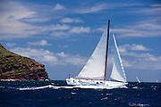 Beauty sailing in the 2010 Antigua Classic Yacht Regatta, Windward Race, day 4.