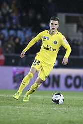 December 13, 2017 - Strasbourg, France - Adli Yacine 18  of PSG during the french League Cup match, Round of 16, between Strasbourg and Paris Saint Germain on December 13, 2017 in Strasbourg, France. (Credit Image: © Elyxandro Cegarra/NurPhoto via ZUMA Press)