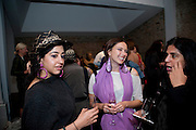 RADHIKA KHIMJI; LIA CHAVEZ; ZARINA BHIMJI, Hannah RickardÕs exhibition; No, there was no red.9. MaxMara Prize for Women, in collaboration with the Whitehachapel Gallery. Whitechapel. London.  September 2009.<br /> RADHIKA KHIMJI; LIA CHAVEZ; ZARINA BHIMJI, Hannah Rickard?s exhibition; No, there was no red.9. MaxMara Prize for Women, in collaboration with the Whitehachapel Gallery. Whitechapel. London.  September 2009.