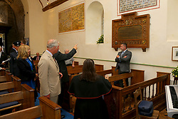 July 4, 2018 - Llanwenog, United Kingdom - Image licensed to i-Images Picture Agency. 03/07/2018. Llanwenog, Wales, United Kingdom.  Prince of Wales visits St. Gwenog's Church, Llanwenog, Wales, United Kingdom. (Credit Image: © Pool/i-Images via ZUMA Press)