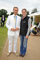 NINA CLARKIN and DAVID SIEVWRIGHT at a charity polo match organised by Jaeger Le Coultre was held at Ham Polo Club, Richmond, Surrey on 12th June 2009.