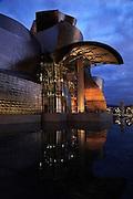 Guggenheim Museum Bilbao at sunset