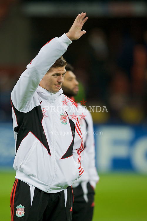 MILAN, ITALY - Tuesday, March 10, 2008: Liverpool's captain Steven Gerrard MBE before the UEFA Champions League First knockout Round 2nd Leg match against FC Internazionale Milano at the San Siro. (Pic by David Rawcliffe/Propaganda)
