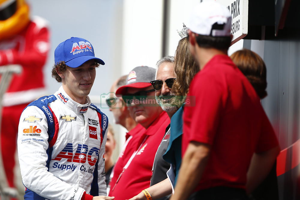 March 11, 2018 - St. Petersburg, Florida, United States of America - March 11, 2018 - St. Petersburg, Florida, USA: Matheus Leist (4) gets introduced to the crowd for the Firestone Grand Prix of St. Petersburg at Streets of St. Petersburg in St. Petersburg, Florida. (Credit Image: © Justin R. Noe Asp Inc/ASP via ZUMA Wire)