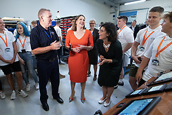 © Licensed to London News Pictures . 16/09/2019. Bournemouth, UK. Party leader JO SWINSON and Shadow Education Secretary LAYLA MORAN visit Bournemouth College STEM Centre, which trains apprentices for industry, during the Liberal Democrat Party Conference at the Bournemouth International Centre . Photo credit: Joel Goodman/LNP