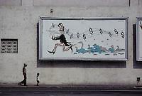 Havana-Mural Depicting Uncle Sam as the Pied Piper of Hamelin --- Image by Owen Franken
