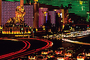 Image of The MGM Grand Hotel & Casino on The Strip in Las Vegas, Nevada, American Southwest