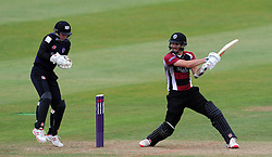 Somerset's Tom Cooper cuts the ball. - Photo mandatory by-line: Harry Trump/JMP - Mobile: 07966 386802 - 03/07/15 - SPORT - CRICKET - Natwest T20 Blast - Somerset v Gloucestershire - The County Ground, Taunton, England.