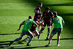 Max Lahiff of Bristol Bears is marked by Chris Robshaw of Harlequins and Alex Dombrandt of Harlequins - Mandatory by-line: Ryan Hiscott/JMP - 08/03/2020 - RUGBY - Ashton Gate - Bristol, England - Bristol Bears v Harlequins - Gallagher Premiership Rugby
