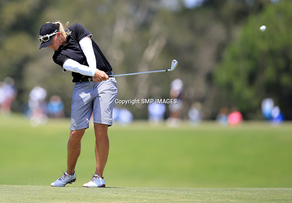 KATHERINE KIRK (AUS) - PHOTO : SMP IMAGES / ALPGA MEDIA - Action from the the 2015 RACV Australian Ladies Masters being held at Royal Pines Resort on Queenslands Gold Coast. This image is for Editorial Use only. No further image use or third party sales are allowed with out the written consent of the Mananger SMP IMages and or the CEO of the LPGA Tour. Photo: SMP Images / LPGA Media