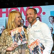 """NLD/Amsterdam/20180426 - L""""Homo 2018,  Linda de Mol  en hoofdredacteur Iebele van der Meulen"""