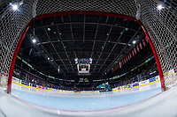 KELOWNA, CANADA - FEBRUARY 8: Empty ice at the start of the game between Kelowna Rockets against the Prince George Cougars on February 8, 2019 at Prospera Place in Kelowna, British Columbia, Canada.  (Photo by Marissa Baecker/Shoot the Breeze)