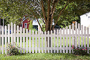 white picket fence at the home of George Long and Courtney Blitch, 22276 Level Street in Abita Springs, Louisiana