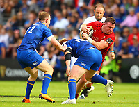 Rugby Union - 2018 Guiness Pro14 - Semi-Final: Leinster vs. Munster<br /> <br /> Dave Kilcoyne (Munster) is tackled by Andrew Porter (Leinster), at RDS Arena, Dublin.<br /> <br /> COLORSPORT/KEN SUTTON