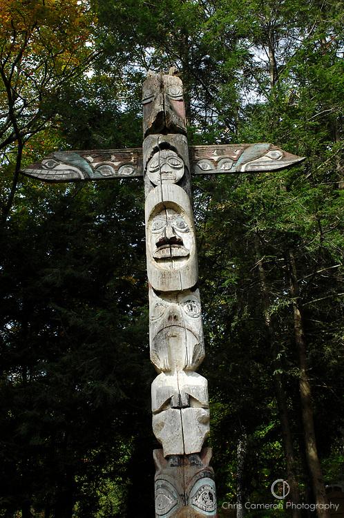 Totem pole, Conecticut, USA