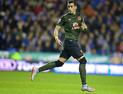 READING, ENGLAND - Tuesday, September 22, 2015: Everton's Ramiro Funes Mori in action against Reading during the Football League Cup 3rd Round match at the Madejski Stadium. (Pic by David Rawcliffe/Propaganda)