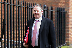 © Licensed to London News Pictures. 01/01/2019. London, UK. Liam Fox - Secretary of State for International Trade and President of the Board of Trade departs from No 10 Downing Street after attending the weekly Cabinet Meeting. Photo credit: Dinendra Haria/LNP
