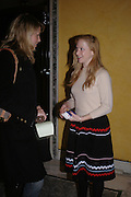 Meredith Ostron  and  Nathalie Press. 'Pret-a-Portea'M.A.C. launches High Tea collection with British fashion designers. Berkeley Hotel. 17 January 2004. ONE TIME USE ONLY - DO NOT ARCHIVE  © Copyright Photograph by Dafydd Jones 66 Stockwell Park Rd. London SW9 0DA Tel 020 7733 0108 www.dafjones.com
