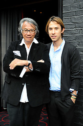 Left to right, DAVID TANG and EDWARD TANG  at the Beat Summer party hosted by Luca del Bono at L'Atelier De Joel Robuchon, 13-15 West Street, Covent Garden, London on 1st July 2008.<br /><br />NON EXCLUSIVE - WORLD RIGHTS