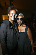 l to r: Harriett Cole and Beth-Ann Hardison at The Ports 1961Show at 2008 Mercedes-Benz Fashion Week held at the Promenade on September 8, 2008