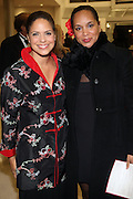 l to r: Soledad O'Brian and Michelle Drayton at The Official unveiling of the new state of the art Cicely L. Tyson Community School of Performing and Fine Arts on October 24, 2009 in East Orange, New Jersey