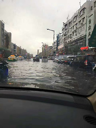 July 2, 2017 - Jili, Jili, China - Jilin, CHINA-July 2 2017: (EDITORIAL USE ONLY. CHINA OUT)..Heavy rain hits Jilin, northeast China, July 2nd, 2017, making the city badly flooded. (Credit Image: © SIPA Asia via ZUMA Wire)