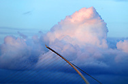 13/5/14 Dramatic clouds over the Samuel Beckett Bridge in Dublin last night Pic: Marc O'Sullivan