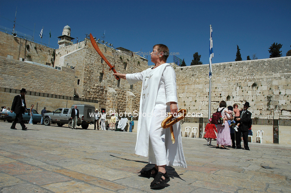 Women inflicted with the Jerusalem Syndrome. The Jerusalem syndrome is the name given to a group of mental phenomena involving the presence of either religiously themed obsessive ideas, delusions or other psychosis-like experiences, that are triggered by, or lead to, a visit to the city of Jerusalem. The best known, although not the most prevalent manifestation of the Jerusalem syndrome, is the phenomenon whereby a person who seems previously balanced and devoid of any signs of psychopathology, becomes psychotic after arriving in Jerusalem. The psychosis is characterised by an intense religious theme and typically resolves to full recovery after a few weeks, or after being removed from the area. (source: wikipedia)