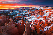 Sunrise over Bryce Canyon National Park in Utah.