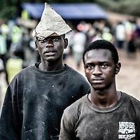 20/11/2014. Nzerekore. Guinee Conakry.<br /> Chantier du Centre de Traitement Ebola de Nzerekore. &copy;Sylvain Cherkaoui/Cosmos pour Alima