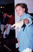 Bernard Sumner of New Order backstage at the Hacienda, Manchester 1989