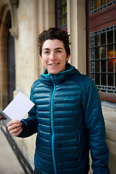 Giorgia Bronzini (ITA) holds a white card in support of the Peace and Sport - #WhiteCard campaign at Ronde van Vlaanderen - Elite Women Team Presentation 2018 on March 31, 2018. Photo by Sean Robinson/Velofocus.com